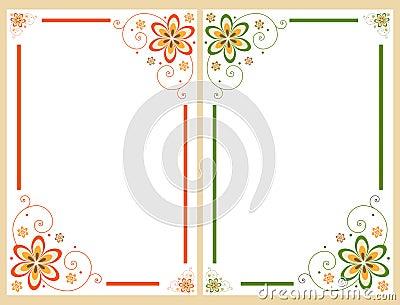 Floral border frame set