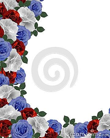 floral border patriotic roses stock image image 8052511