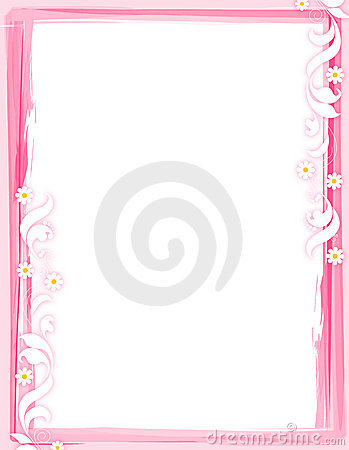 Free Floral Border - Pink Royalty Free Stock Images - 6395159