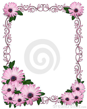 Free Floral Border Purple Daisies Stock Image - 8211841