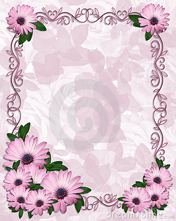 Free Floral Border Purple Daisies Royalty Free Stock Photos - 8211848