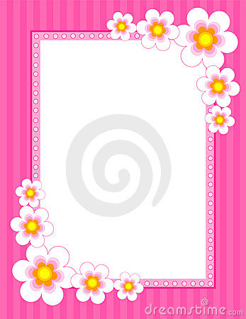 Free Floral Border - Spring And Summer Royalty Free Stock Image - 17320246