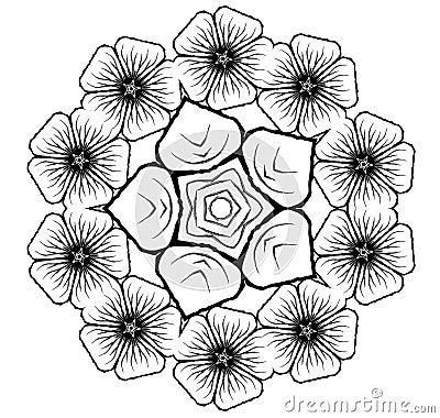 Floral Bouquet Vector Glyph Symbol