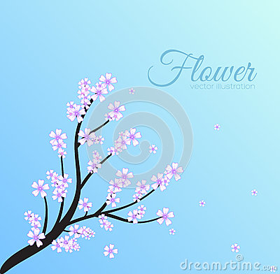 Free Floral Branch Background Concept. Vector Stock Image - 47892521