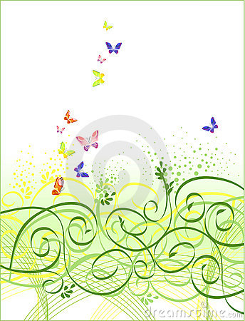 Free Floral Butterfly Background Stock Photo - 2171020