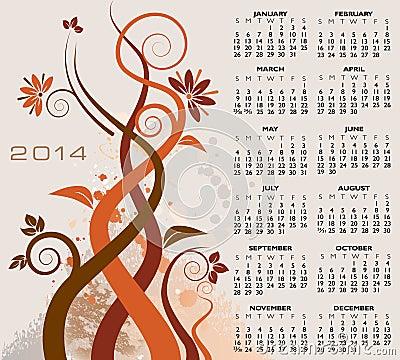Floral 2014 calendar