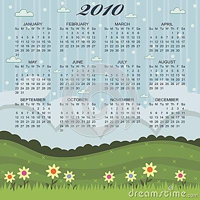 Floral calender for 2010