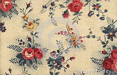 Floral canvas wallpaper
