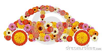 Floral car shape