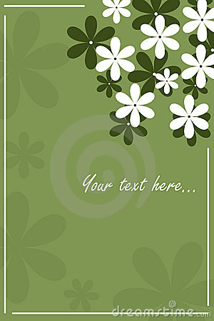 Floral card - green