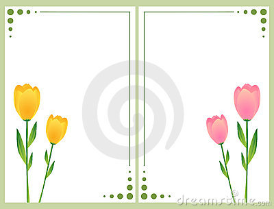 Floral cards with tulips