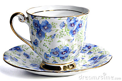 Floral coffee or tea cup