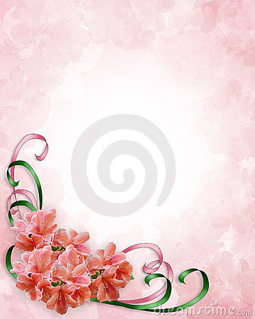 Free Floral Corner Design Azaleas Royalty Free Stock Images - 4437629
