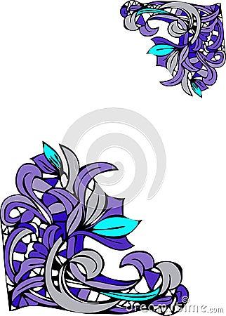 Floral corner designs