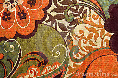 Floral Cotton Tapestry Fabric Background