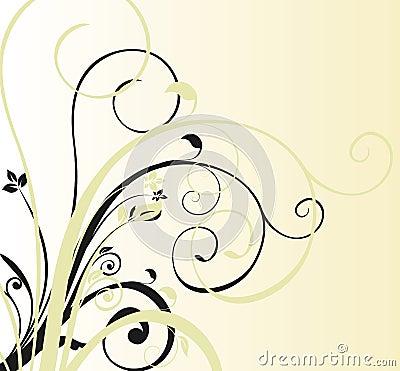 Floral curve background