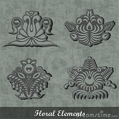 Floral Decoration Elements / Army style