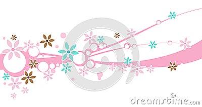 A floral Design Banner