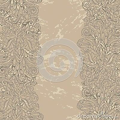 Floral design border in renaissance style
