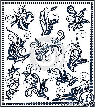 Floral design element collection