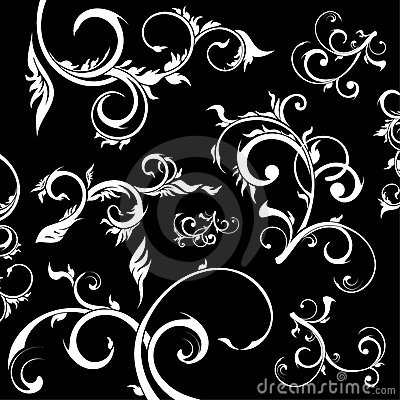 Floral design elements, vector