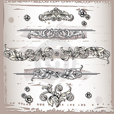 Floral design frame elements