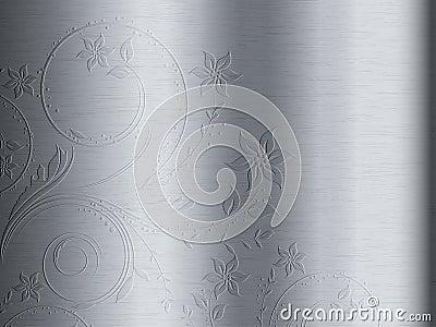 Floral design on metal