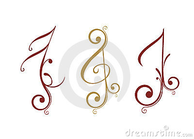 Floral design music note