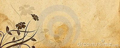 Floral design and old parchment