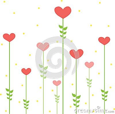 Floral Design Vector Hearts