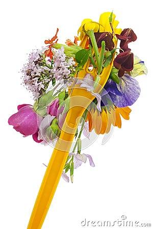Floral diet concept