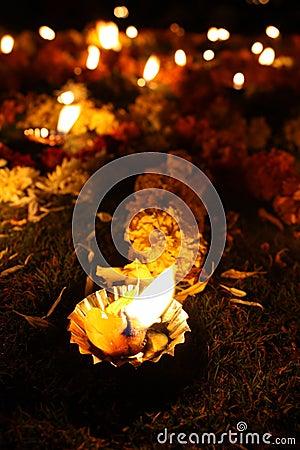 Floral Diwali Lamps