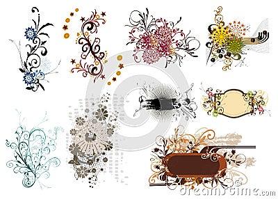 Floral element for design