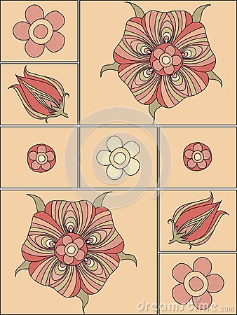 Floral elements to create a design background