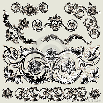 κλασικό floral σύνολο στοιχ&epsilon