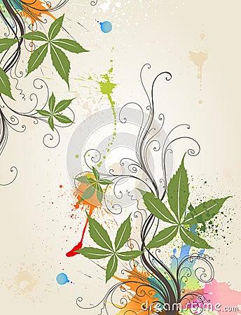 Floral floral background