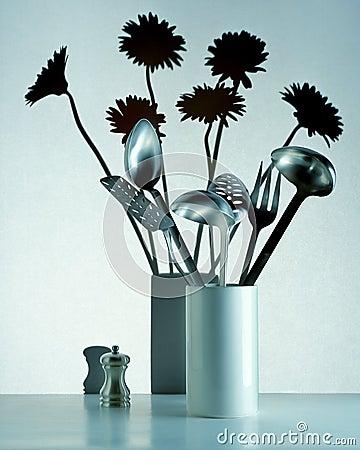 Floral Flowers Utensils