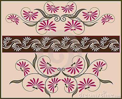 Floral frame and border.