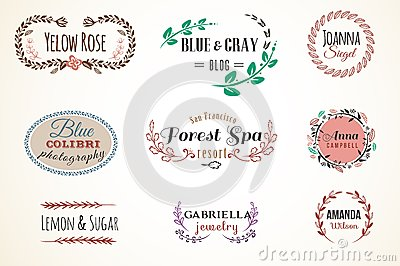 Floral Frame and Name Collection