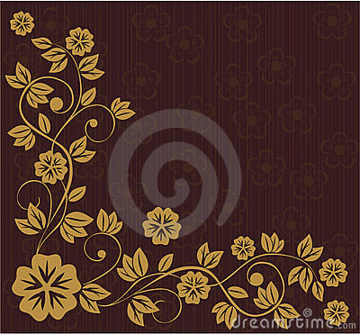 Floral frame in russian traditional style (vector)