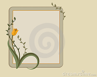 Floral Frame, Text Panel