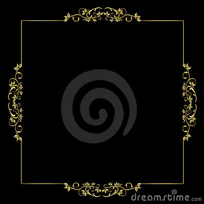 Floral Frame - vector ornament