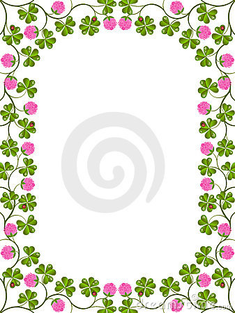 Free Floral Frame With A Clover Royalty Free Stock Photo - 19929465