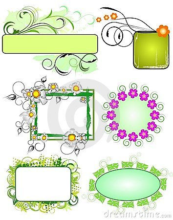Floral frames collection