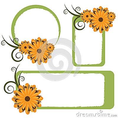 Floral frames - vector