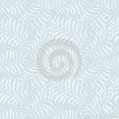 Floral frost seamless pattern