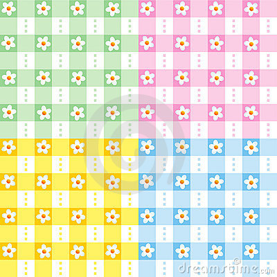 Floral gingham πρότυπα άνευ ραφής