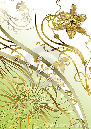 Floral gold abstraction
