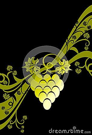 Floral grape background