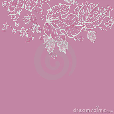 Floral greeting card in pink tones
